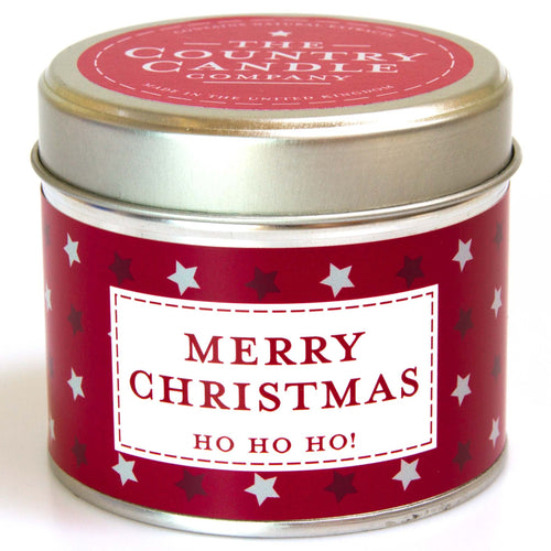 Merry Christmas Noel - Red Amber & Clove Tin Candle - Daisy Park