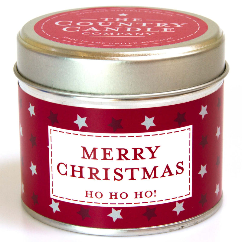 Merry Christmas Noel - Red Amber & Clove Tin Candle