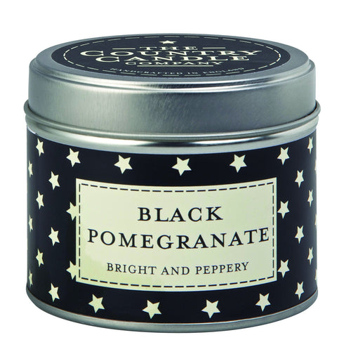 The Country Candle Black pomegranate candle tin