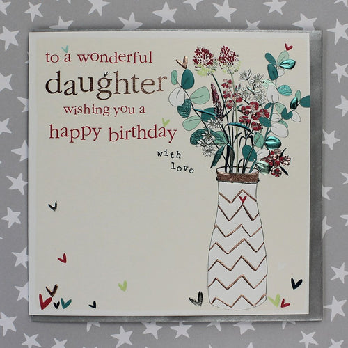To a Wonderful Daughter - Happy Birthday card - Daisy Park