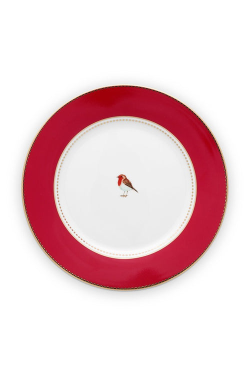 Pip Studio Love Birds 21cm red plain breakfast plate