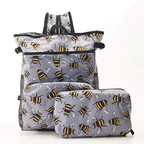 Eco Chic Grey Bees Cool Backpack - Daisy Park