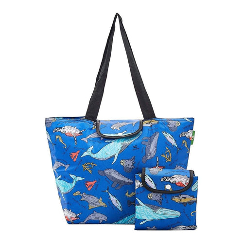 Eco Chic Blue Sea Creatures Large Cool Bag - Daisy Park