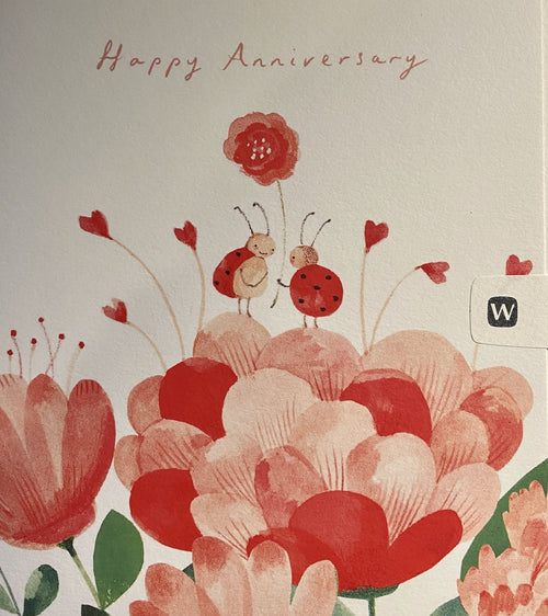 Lovebugs anniversary card