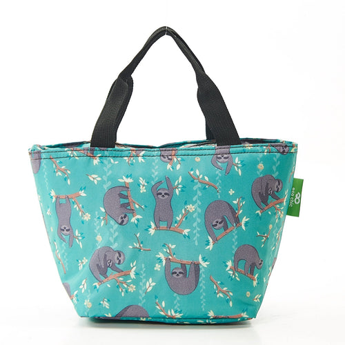 Eco Chic Blue Sloth foldable lunch bag - Daisy Park