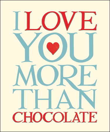 Valentine's Card - Emma Bridgewater - I Love you more than chocolate card - Daisy Park