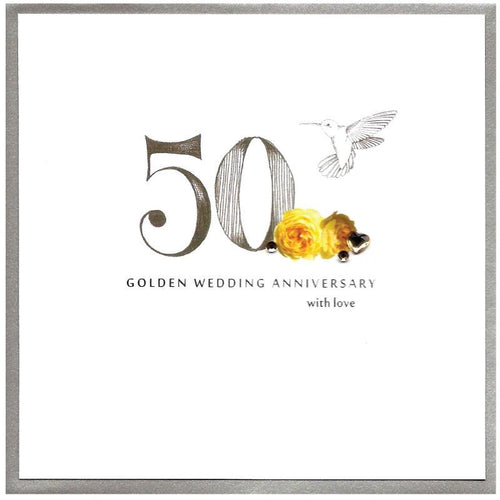 Golden Wedding Anniversary card - Daisy Park