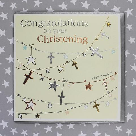 Christening Card - Daisy Park