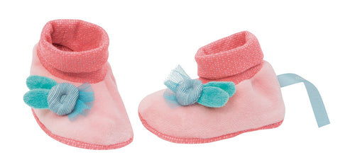 Moulin Roty Mademoiselle pink Baby slippers - Daisy Park