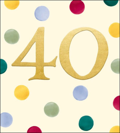 Emma Bridgewater 40th Birthday card