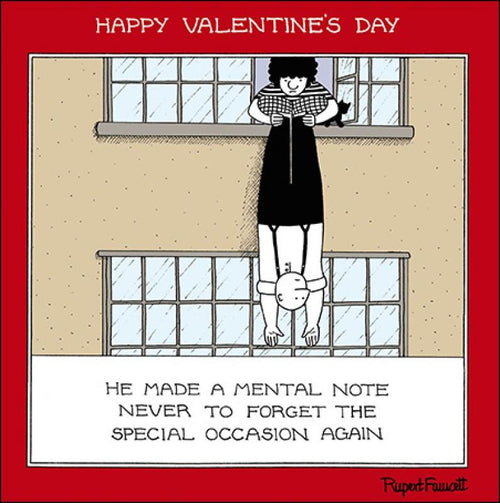 Fred Mental note Valentines card - Daisy Park