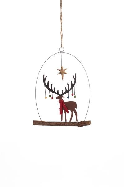 Shoeless Joe Stag Bauble Xmas Tree Decoration - Daisy Park