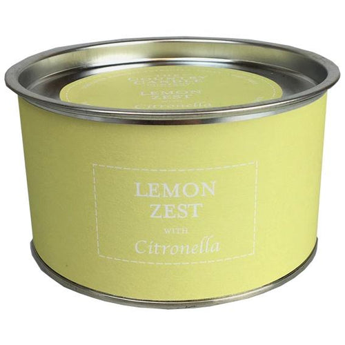 Lemon Zest Citronella multi wick candle with petals