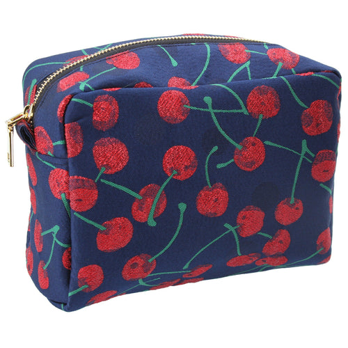 Cherry jacquard cosmetic pouch - Daisy Park