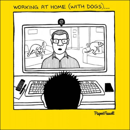 Working at home card