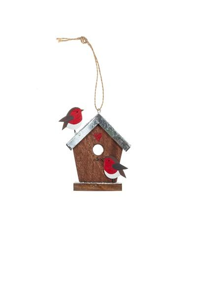 Birdhouse and Robins Decorations - Daisy Park