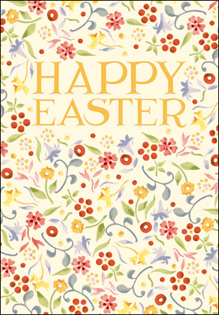 Emma Bridgewater Spring Floral Happy Easter Card - Daisy Park