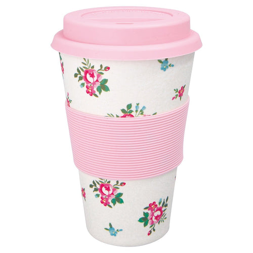 Greengate Constance white travel cup white