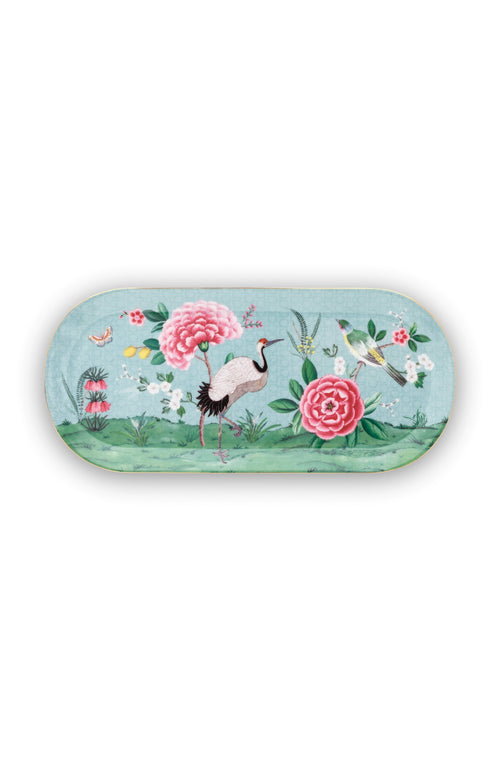 Pip Studio Blushing Birds blue rectangular cake tray - Daisy Park