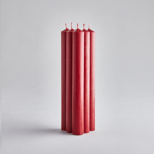 "St Eval 8"" Red dinner candles gift pack - Daisy Park"