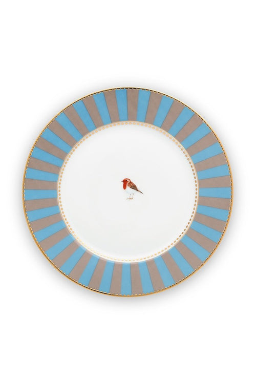 Pip Studio Love Birds blue/khaki 17cm Plate