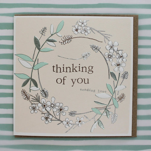 Thinking of you sending love card - Daisy Park