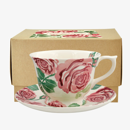 Emma Bridgewater Pink Roses large teacup and saucer - Daisy Park