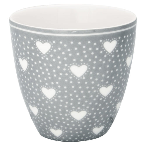 Greengate grey Penny mini latte cup - Daisy Park