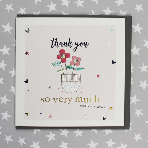 Thank you so very much flowers card - Daisy Park