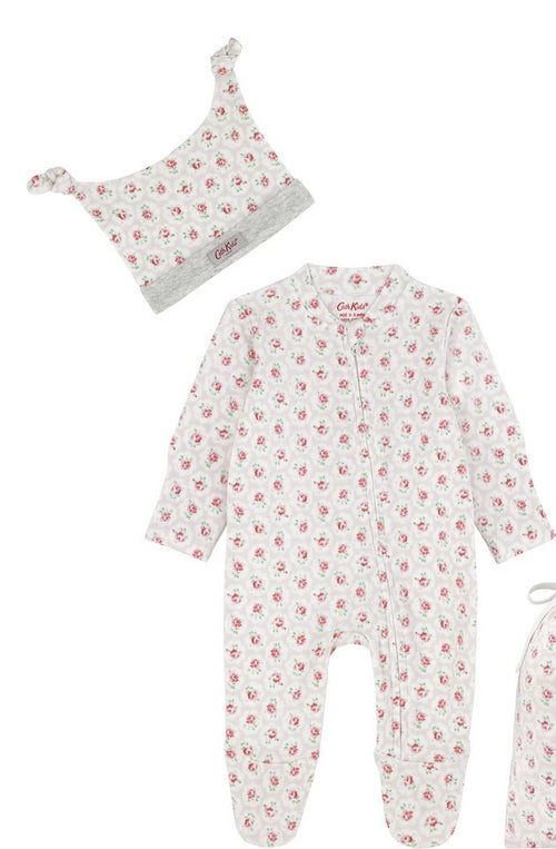 Cath Kidston Provence Rose sleepsuit and hat set - Daisy Park