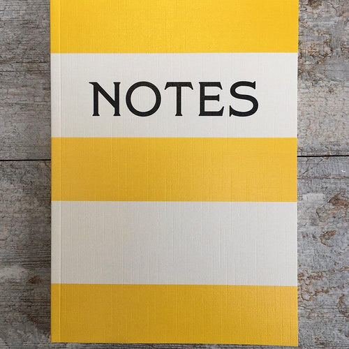 Notes yellow stripe notebook - Daisy Park