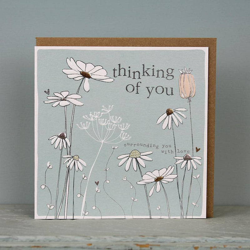 Thinking of you - surrounding you with love card - Daisy Park