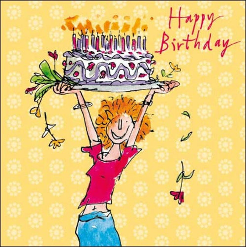 Jump for cake birthday card - Daisy Park