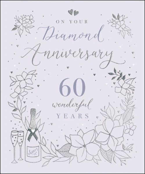 Diamond Anniversary card - Daisy Park