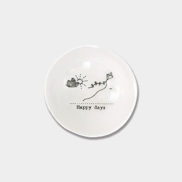 East of India Porcelain Small Bowl - Happy Days