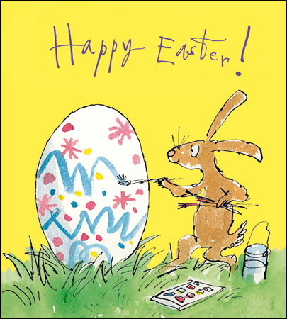 Happy Easter Card - Egg & Bunny - Daisy Park