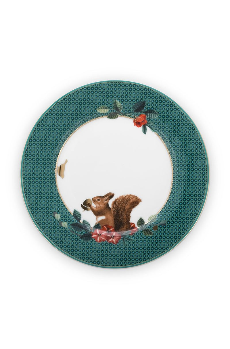 Pip Studio Winter Wonderland Squirrel green 17cm plate - Daisy Park