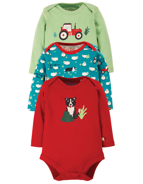 Frugi Tractor multipack long sleeved bodies - Daisy Park