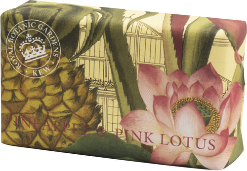 Kew Gardens Soap Pineapple & Pink Lotus 240g