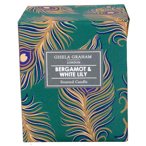 Peacock Feather Boxed Scented Candle Large - Daisy Park
