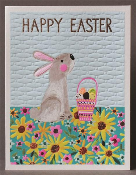 Happy Easter Bunny Card - Daisy Park