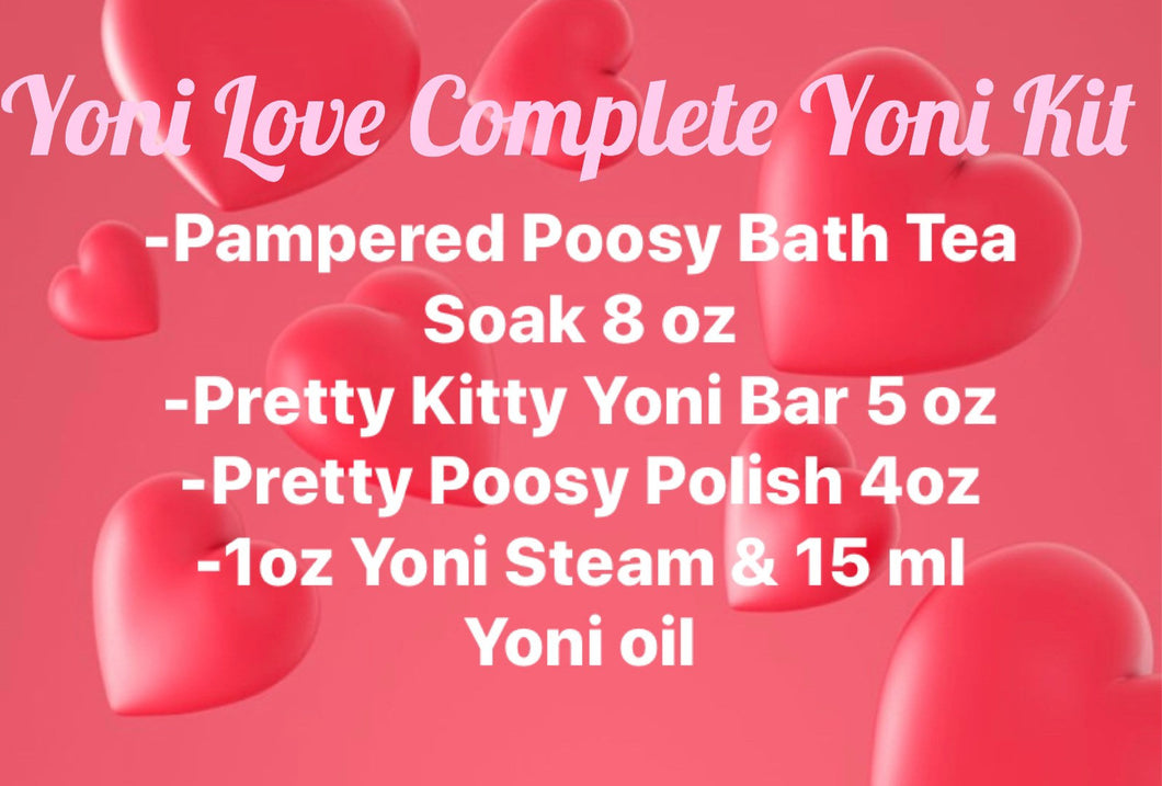 Complete Yoni Love Care Kit! Great Gift! Pamper your yoni and save!!!