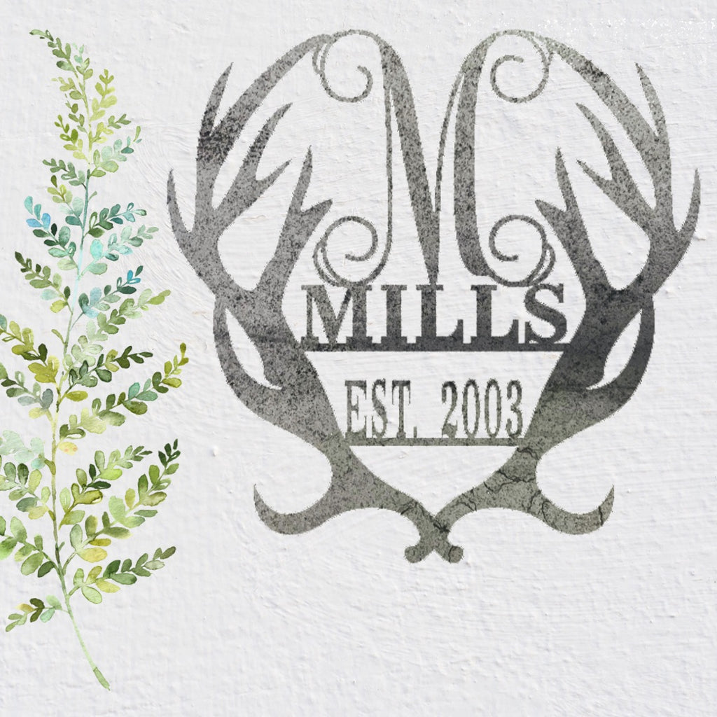 Antler Established Monogram in Metal