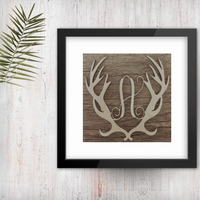 Antler Single Vine Letter Monogram