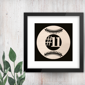 Baseball Softball Monogram
