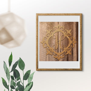 Charleston Single Vine Letter Monogram