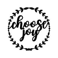 Choose Joy  Metal Wreath