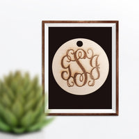 Vine Three-Letter Monogram Charm