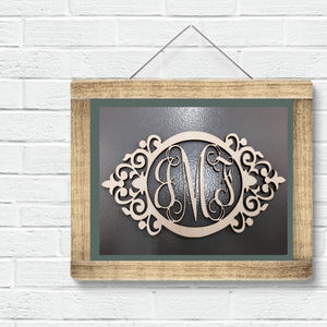 Emma Anne Vine Three-Letter Monogram