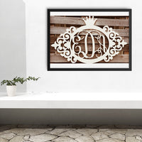 Emma Anne Vine Three-Letter Monogram With Crown